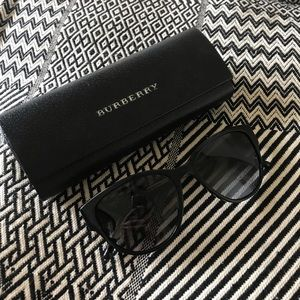 BURBERRY Sunglasses - Black Frame w/ Gold Accents